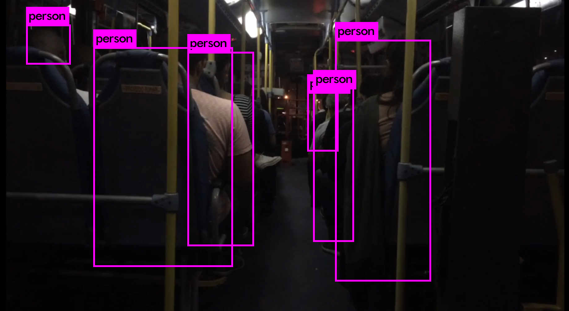 automatic people counting in a bus at night with Isarsense